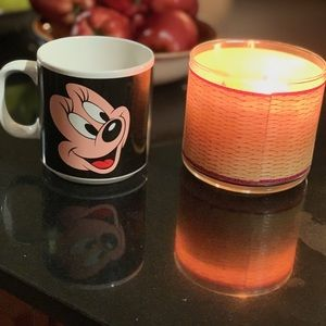 Vintage Disney Mickey and Minnie Mouse Coffee Cup